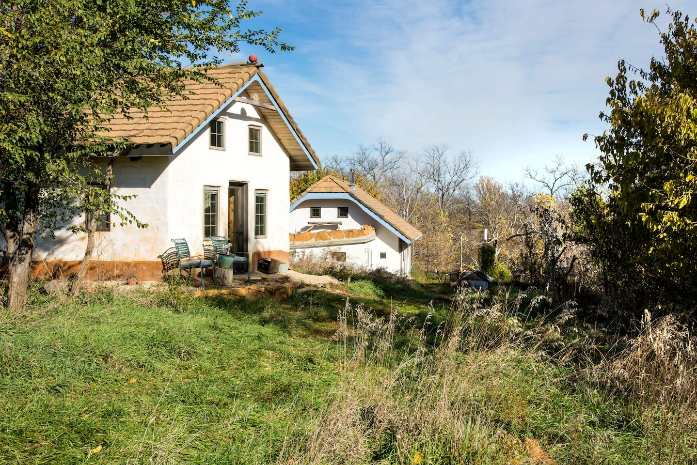 Apple Cottage was built from natural and locally sourced materials.  It's super cute too!