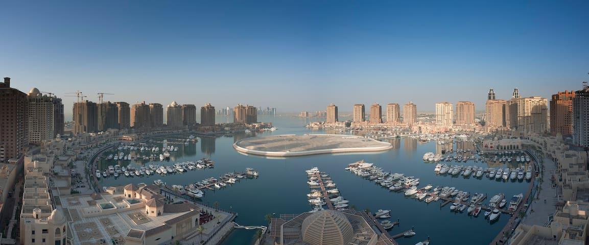 Cozy, comfortable 2BR/2BA Apt Pearl - Doha - Apartment