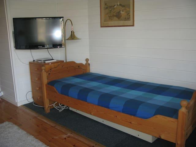 TV og internett (+ soveplass) i oppholdsrom