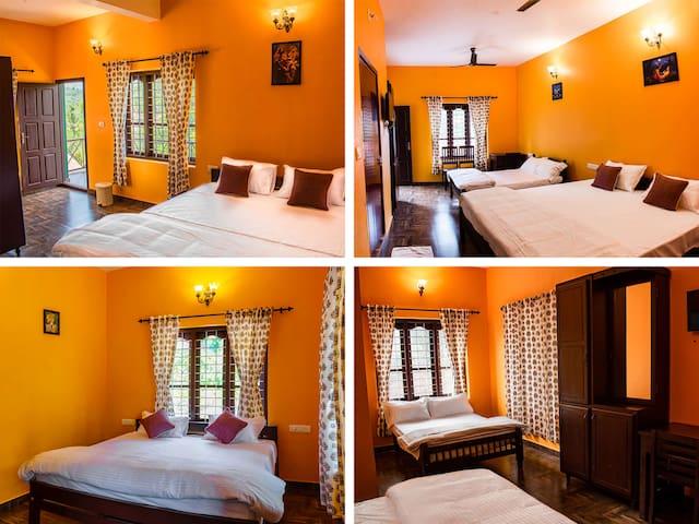 4 Luxury Rooms with Balconies & Ensuite Bathrooms