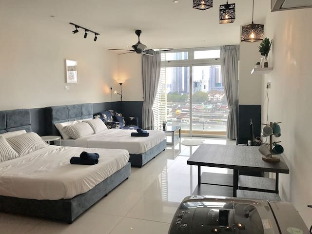[Cozy Stay@KSL] with City View and TvBox