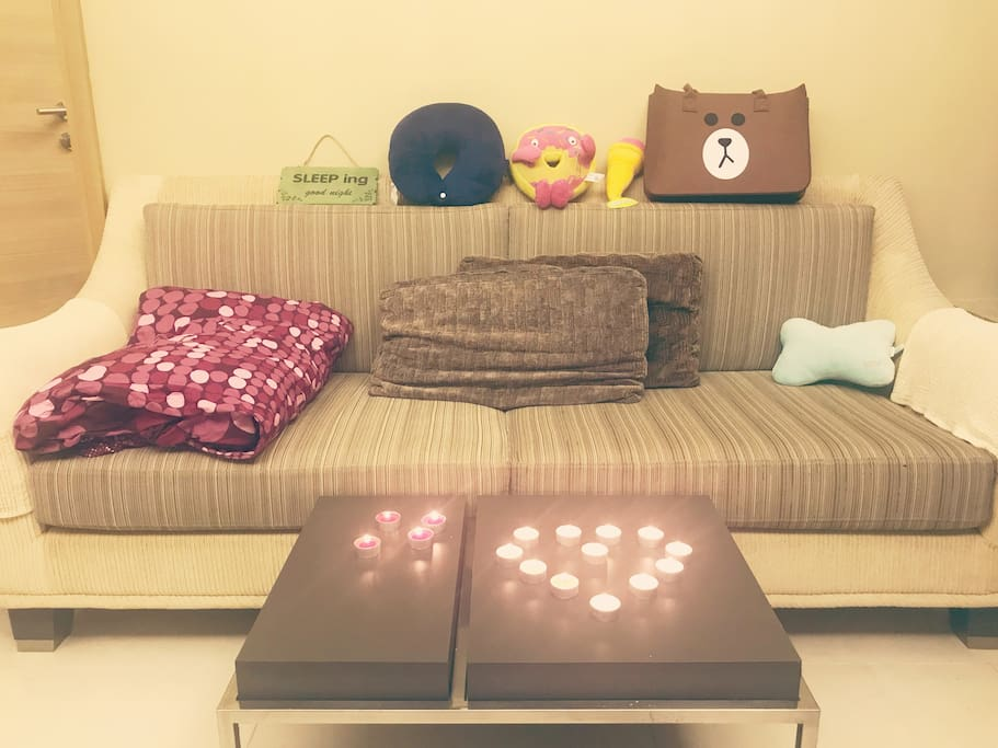 The couch bed 沙发床