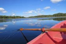 Der nahe See, unser Boot