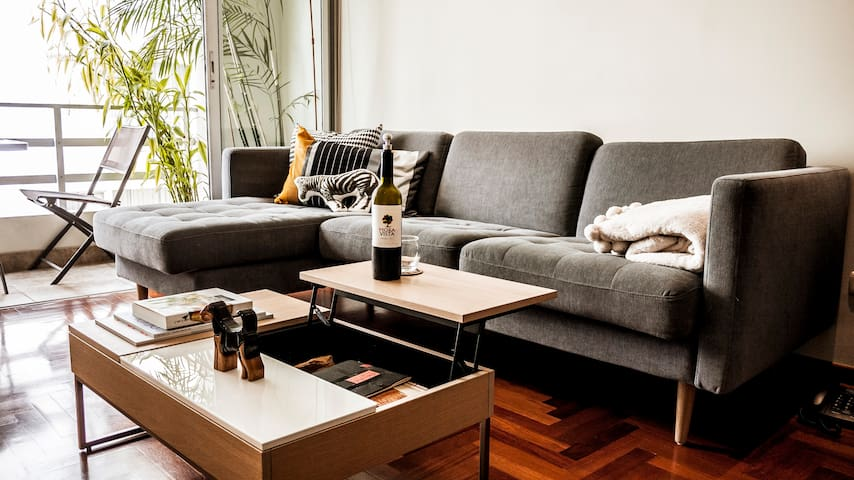 Cosy, new, fully equipped, modern design furniture
