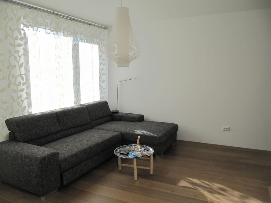 Living-room with extensible couch for two persons (1.50/2m)