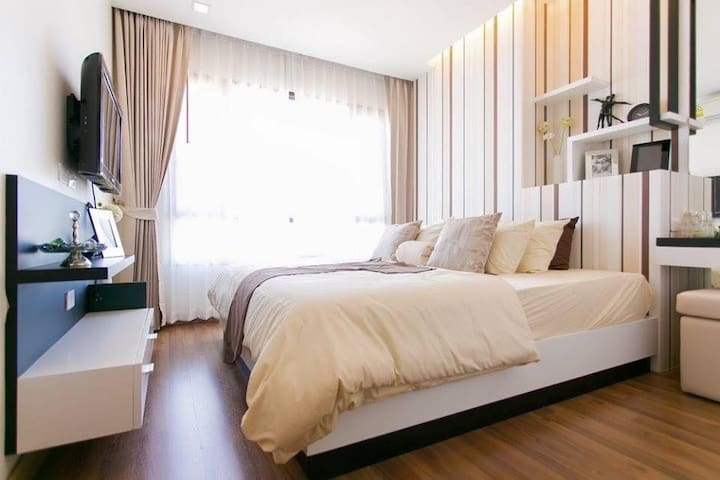Elegant 1bdr apart w/ wifi pool gym - Chiang Mai - Apartamento