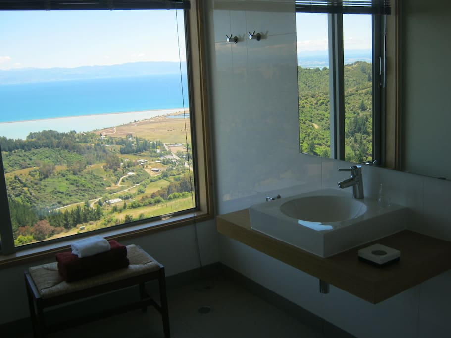 B&B Ensuite Bathroom - with a view of course