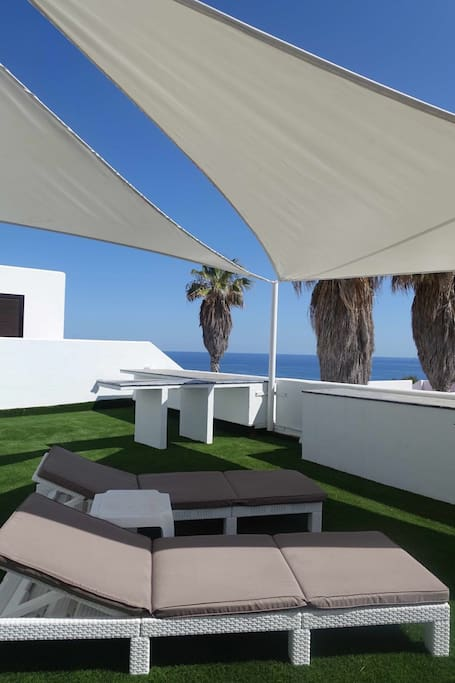 roof terrace with wonderfull sea view