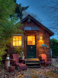 We are excited to share our Historic Fairhaven Cabin in Bellingham with you.