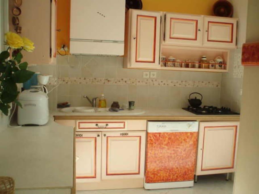 cuisine à côté véranda