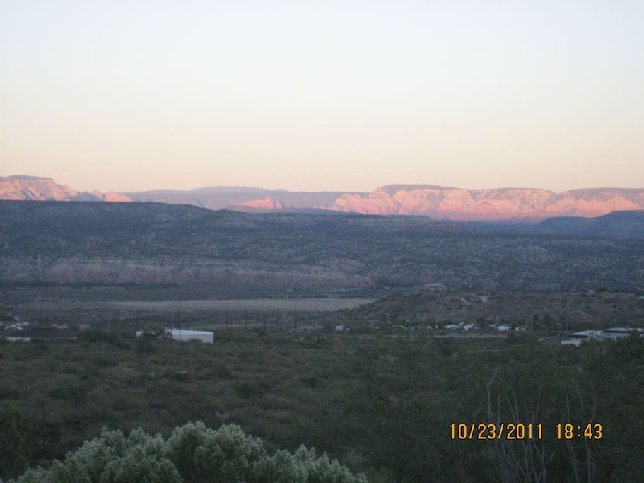 Red rock view from casita