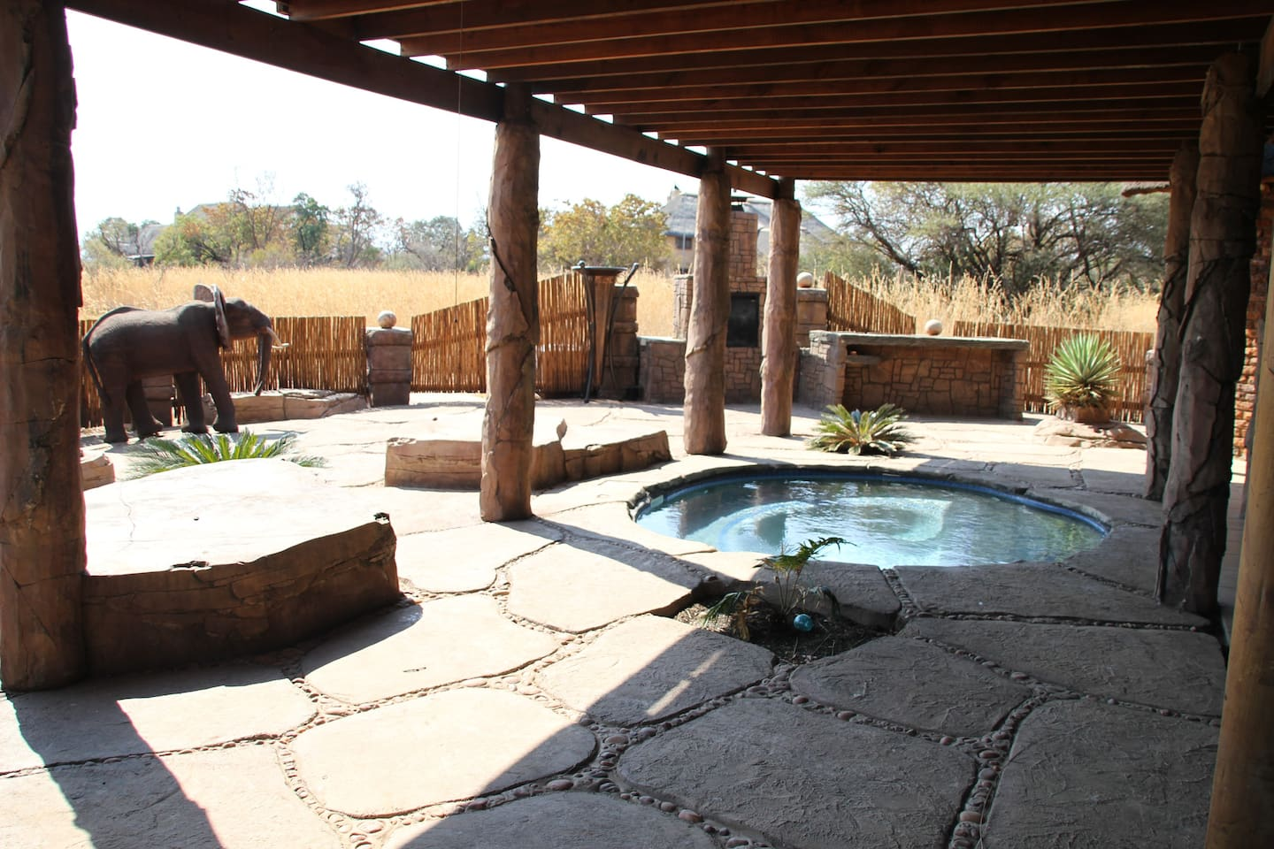 Our pool is perfectly protected from the animals so you can enjoy a leisurely sun bath!