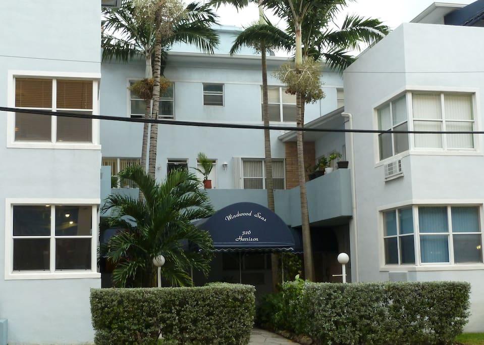 Front entrance of the beautiful Windwood Seas Condominiums.