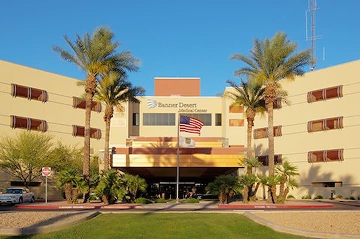 Banner Desert Hospital 5 minutes away