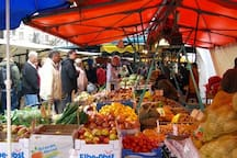 the turkish market is the perfect place to find the fresh veggies and spices