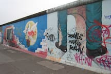 East Side Gallery is at a few minutes walk from our flat