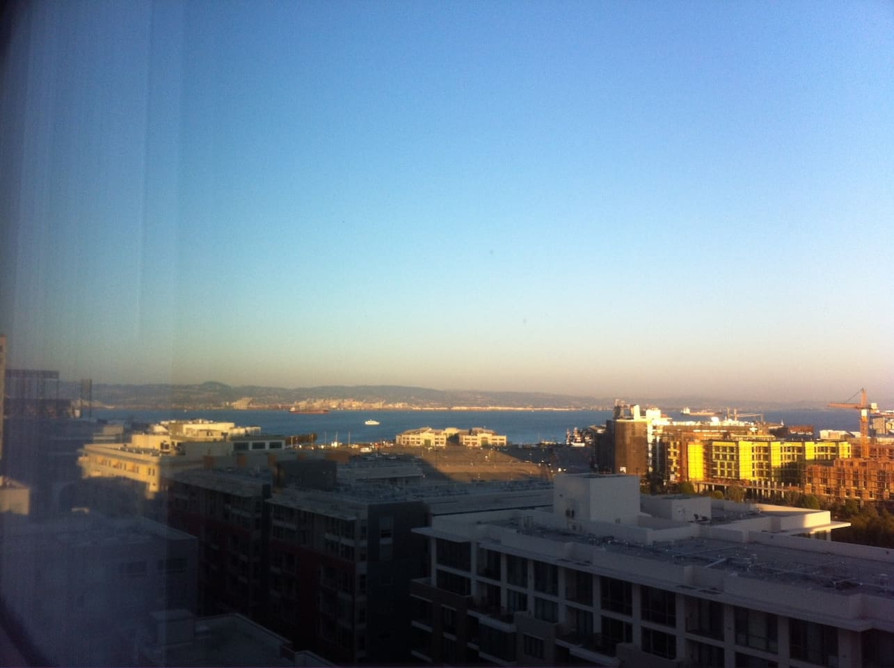 Bay view from the living room