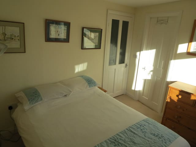 Comfortable double bedroom with fitted wardrobes