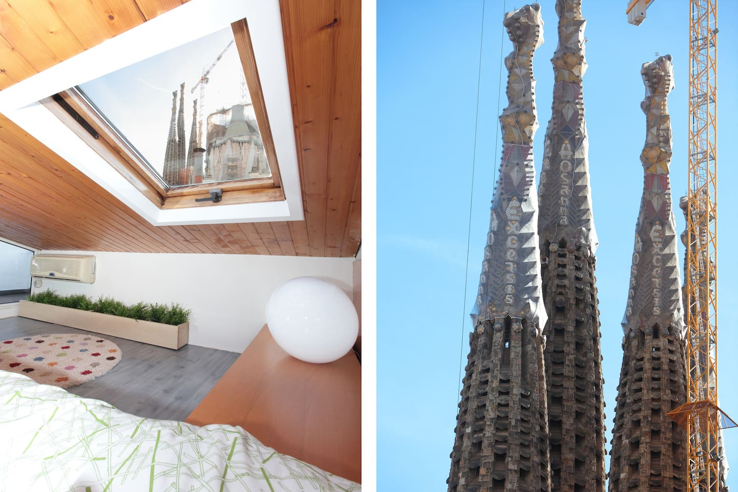 Unique views of Sagrada Familia in Barcelona