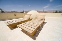 Sunbathe on the roof terrace and enjoy the views
