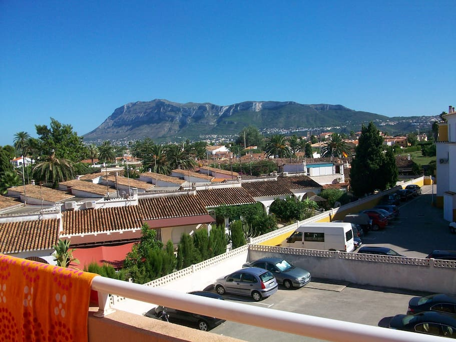 view from lower terrace towards Montgo