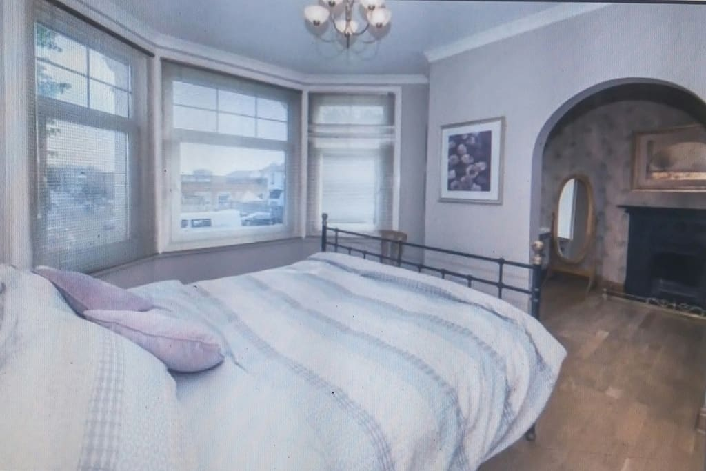 Great Orme bedroom (super king bed) with ensuite and wardrobe room. Will need to draw straws for this room.