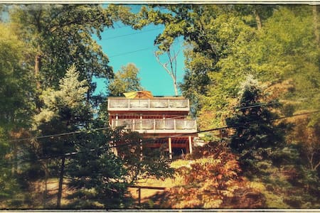 "Stunning lake view ""Treehouse"" - Denville - Casa"