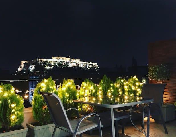 Acropolis Suite-Breathtaking view (500m Acropolis)