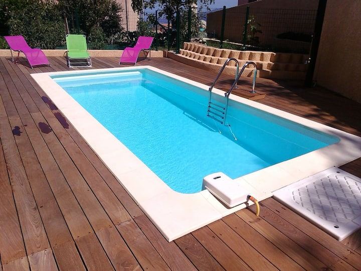 Maison T3 Etage avec Piscine  Meublé de tourisme5*