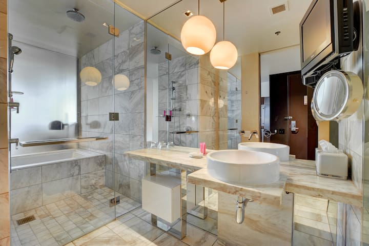 Luxurious marble bathroom
