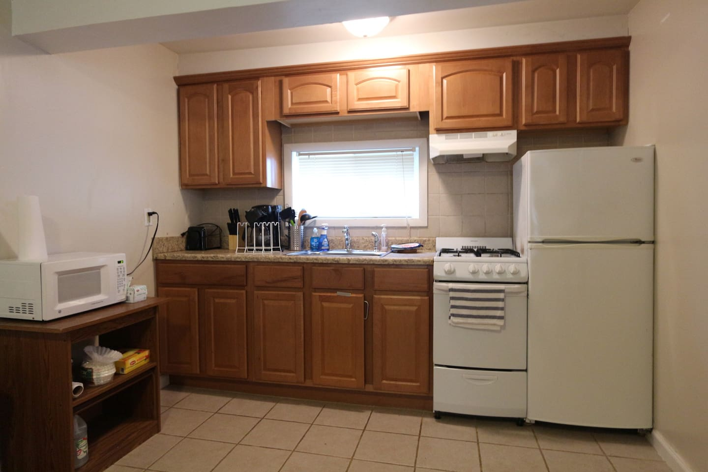 Fully equipped kitchen with everything you will need to enjoy your home away from home