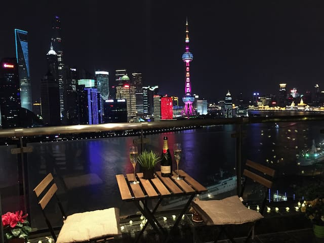 【TOP】180度全江景套房 俯瞰外滩陆家嘴 130平超豪华 - 上海