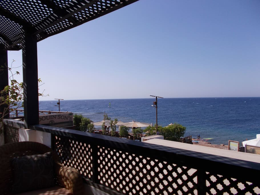 Terras with sea view