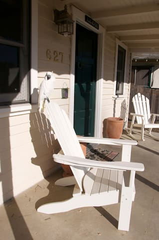 enjoy coffee on the sunny front porch in the morning
