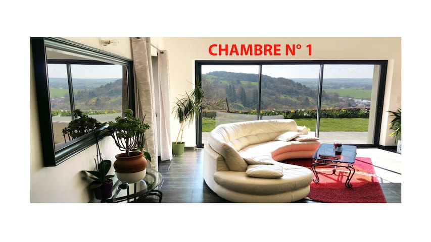 Room in house with very nice view - Dun-sur-Meuse - Casa
