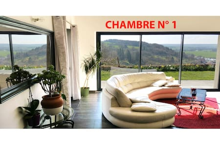 Room in house with very nice view - Dun-sur-Meuse - Hus
