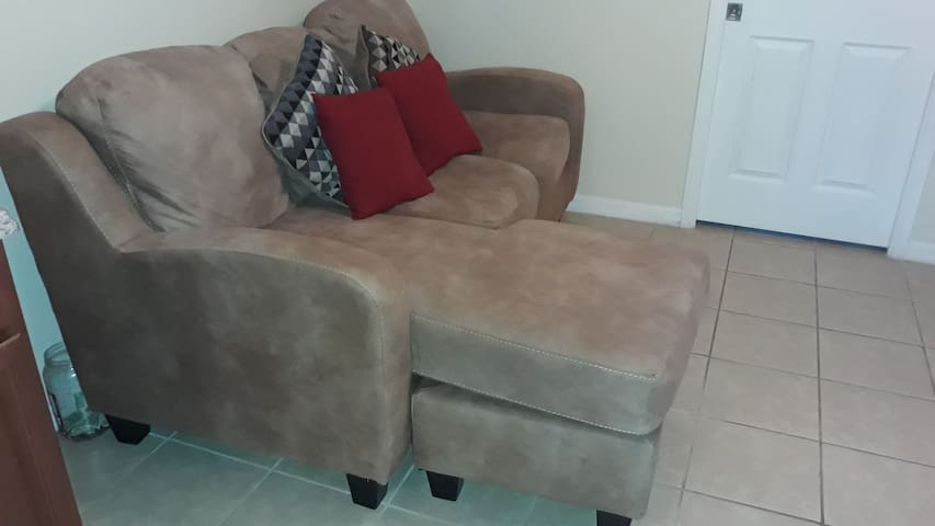 Comfy couch near attractions shopping golf hwys