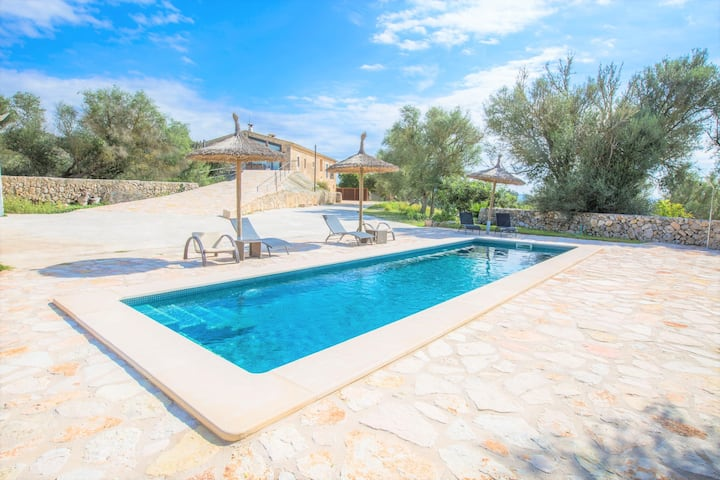 SON VENY - Traditional Majorcan restored house with private pool and beautiful views. Free WiFi
