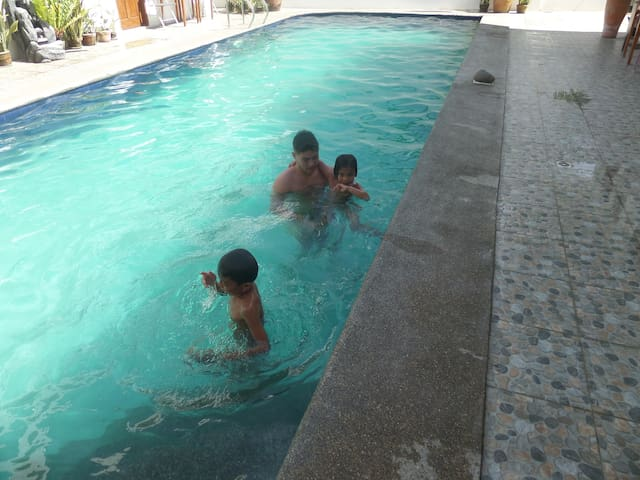 Kids especially love the big pool