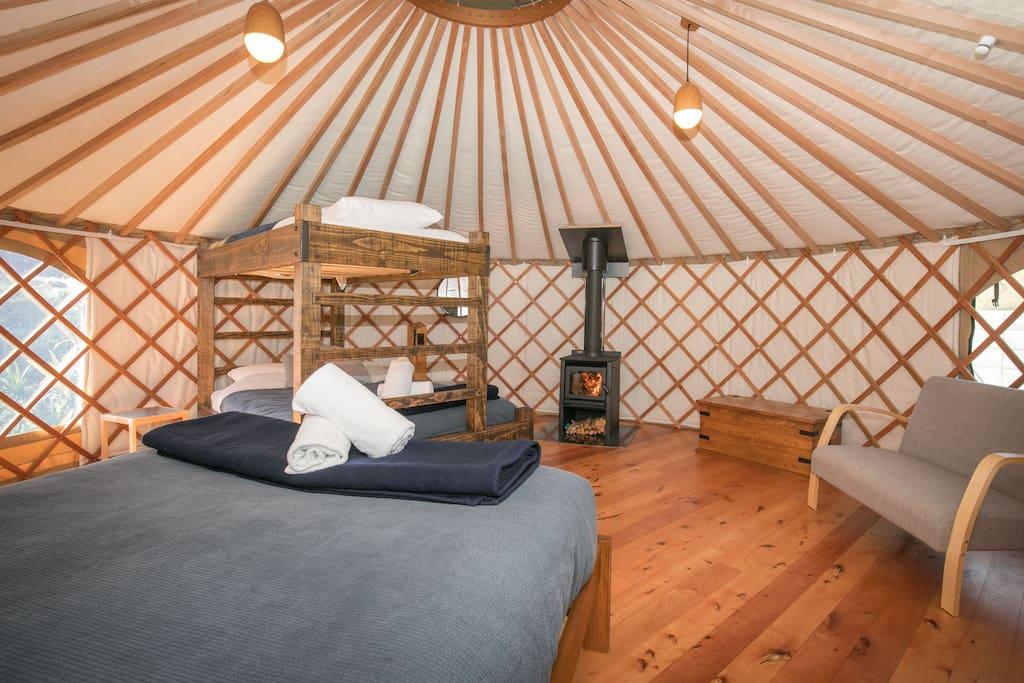 Manuka Yurt (Family/ accessible)