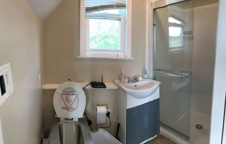 Bathroom w/ Sink, Toilet and shower