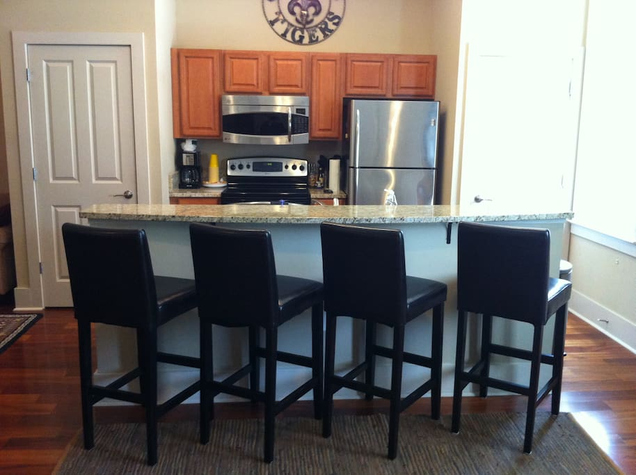 Open kitchen fully furnished