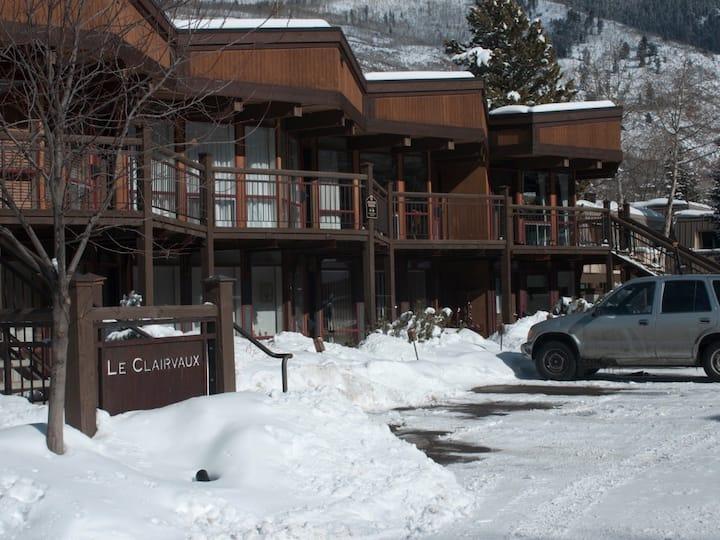 Aspen right outside the door
