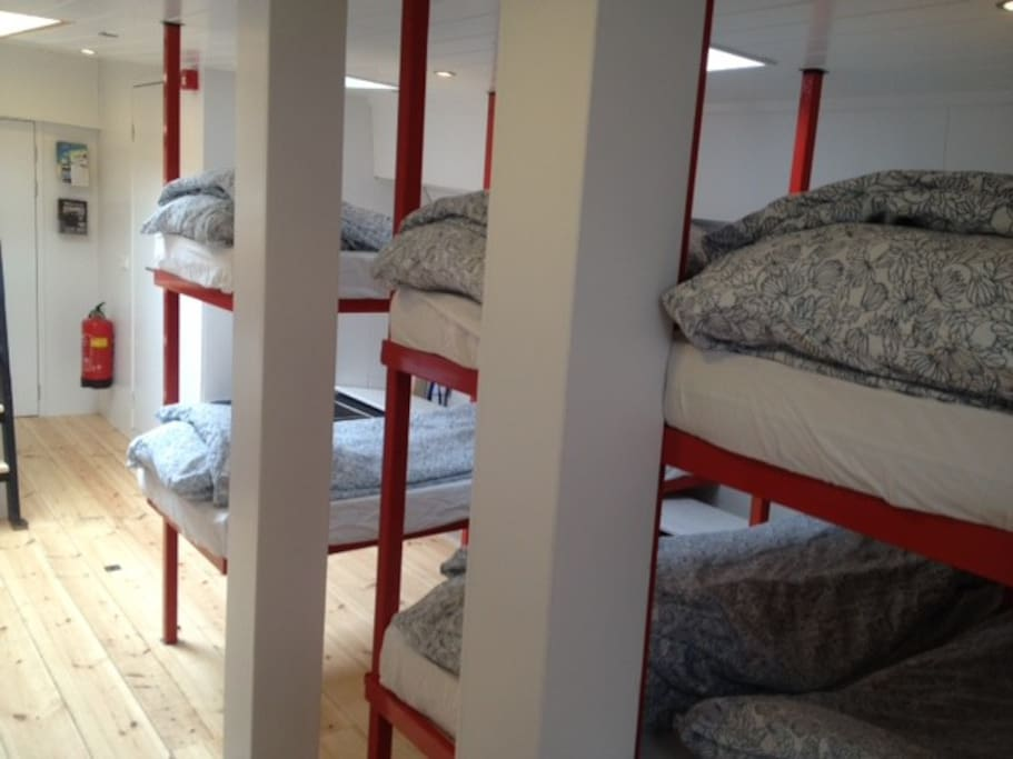 Bunk beds on Starboard