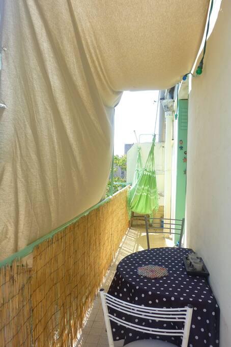 Le balcon où vous pourrez passer d'agéables moments
