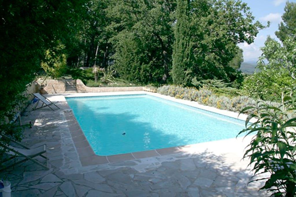 arrivée sur la piscine