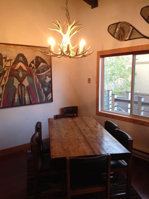 Dinning room table, seats 8