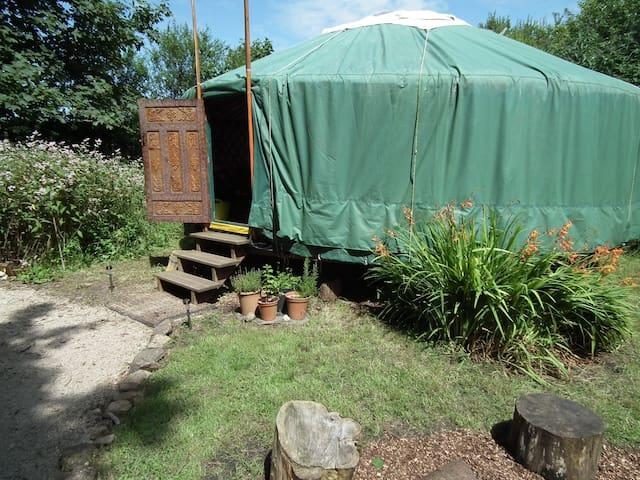 Yurt in sunshine.