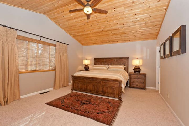 Master Bedroom top level King size bed