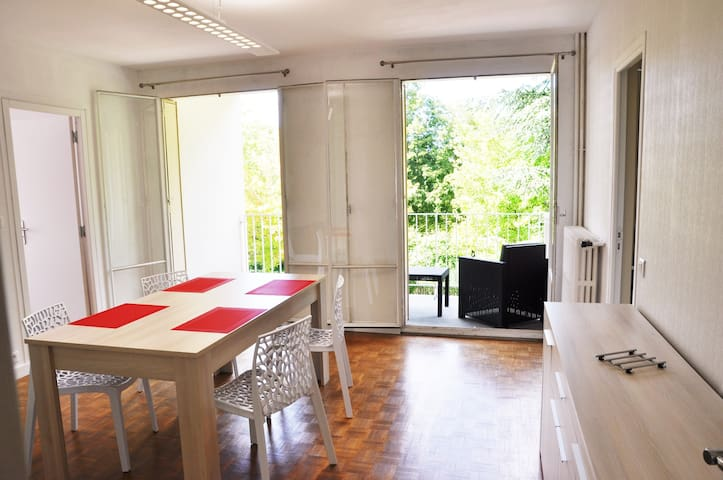 Appart. 78 m²,ascenseur, balcon, parking privé ... - Reims - Wohnung